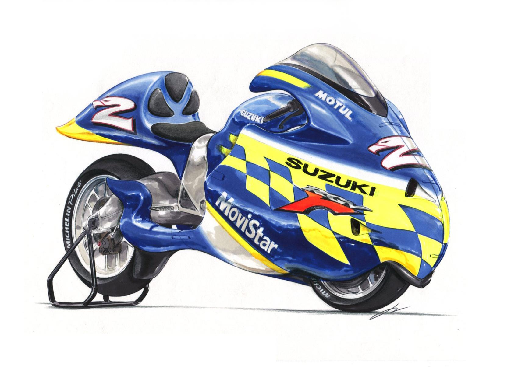 Suzuki GP dustbin